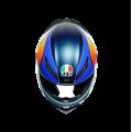 Full face κράνος AGV K1 Power Matt Dark blue/Orange/White