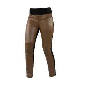 Γυναικεια Παντελονια - Trilobite 2061 Leather leggins ladies pants brown Γυναικεία παντελόνια